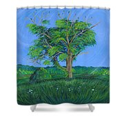 Pleasant Township Tree Shower Curtain