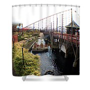 Pleasure Beach Roller Coaster Shower Curtain