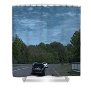 Pleasure Drive Paris Roads Tree Line And Wonderful Skyview Shower Curtain