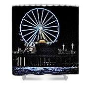Pleasure Pier Ferris Wheel Shower Curtain