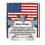Pledge Of Allegiance Shower Curtain by Anne Norskog