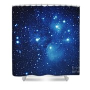 Pleiades Star Cluster Shower Curtain