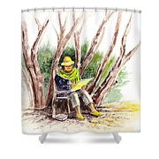 Plein Air Artist At Work Shower Curtain by Irina Sztukowski