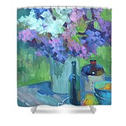 Plein Air Lilacs Shower Curtain