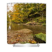 Plessey Woods And The River Blyth Shower Curtain