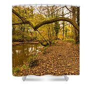Plessey Woods Riverside Footpath Shower Curtain
