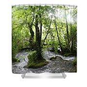 Plitvice Lakes Shower Curtain