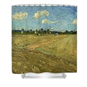 Ploughed Fields - The Furrows Shower Curtain