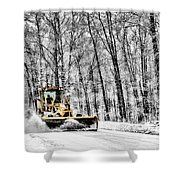 Plowin Snow Shower Curtain