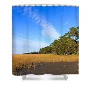 Pluff Mud And Salt Marsh At Hunting Island State Park Shower Curtain