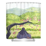 Plumb Blossom Love Shower Curtain