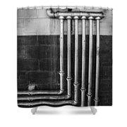 Plumbing Symmetry Shower Curtain