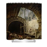 Plundering The Royal Vaults At St. Denis In October 1793 Oil On Canvas Shower Curtain