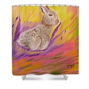 Plunge Into Your Painting Shower Curtain