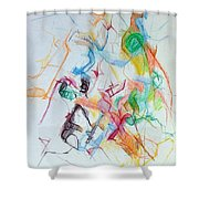 Plunging The Depths Of Being 1 Shower Curtain by David Baruch Wolk