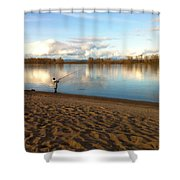 Plunking Waters Shower Curtain