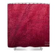Plush Red Texture Shower Curtain