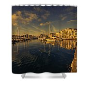 Plymouth Barbican Marina  Shower Curtain