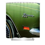 Plymouth Barracuda 340-s Emblem Shower Curtain