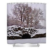 Plymouth Meeting Lime Kilns In The Snow Shower Curtain