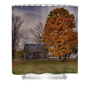 Plymouth Notch Barn In The Fall Shower Curtain