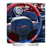 Plymouth Prowler Steering Wheel Shower Curtain