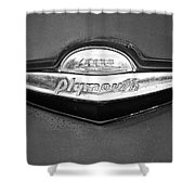 Plymouth Trunk Emblem Shower Curtain