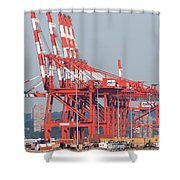 Pnct Facility In Port Newark-elizabeth Marine Terminal I Shower Curtain