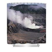 Poas Volcano National Park Costa Rica Shower Curtain