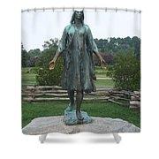 Pocahontas Sculpture Shower Curtain