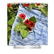Pocket Full Of Posies Shower Curtain