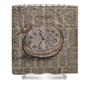 Pocket Watch Shower Curtain
