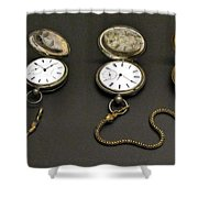 Pocket Watches Shower Curtain