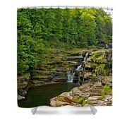Poconos Ledges Waterfall Shower Curtain