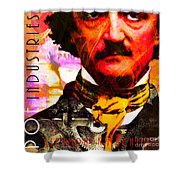 Poe Industries Steampunk Machines Patent Pending 20140518 Square V3 Shower Curtain