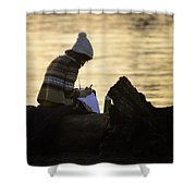 Poems By The Sea Shower Curtain