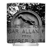 Poe's Original Burial Place Shower Curtain
