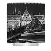Poet And Parliament Shower Curtain