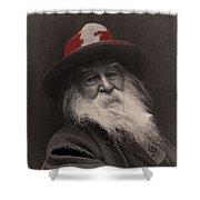 Poet Walt Whitman George Collins Cox Photo 1887-2010 Shower Curtain