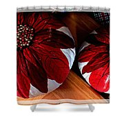 Poinsettias - Handmade - Crafts - Pumpkins Shower Curtain