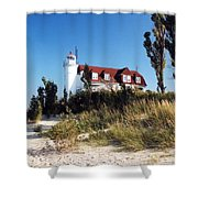 Point Betsie Lighthouse Shower Curtain