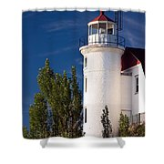 Point Betsie Lighthouse Michigan Shower Curtain