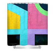 Point Counterpoint Shower Curtain