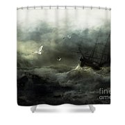 Point Danger Shower Curtain by Shanina Conway
