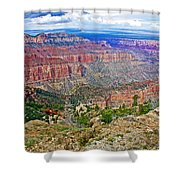 Point Imperial 8803 Feet On North Rim Of Grand Canyon National Park-arizona   Shower Curtain