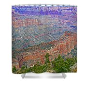 Point Imperial On North Rim Of Grand Canyon National Park-arizona   Shower Curtain