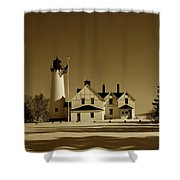 Point Iroquois Light Station Shower Curtain