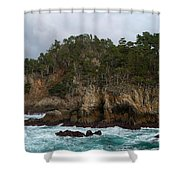 Point Lobos Coastal View Shower Curtain