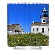 Point Loma Lighthouse By Diana Sainz Shower Curtain