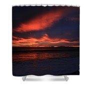 Point Mugu 1-9-10 Just After Sunset Shower Curtain